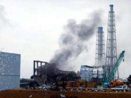 A picture from March shows black smoke rising from the third reactor building at TEPCO's Fukushima nuclear plant