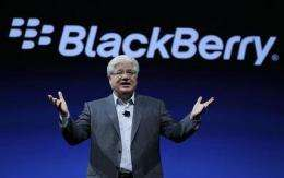 BlackBerry maker shows new phone, tablet software (AP)