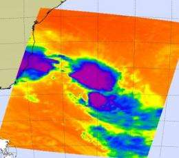 NASA satellites show towering thunderstorms in rare sub-tropical storm Arani