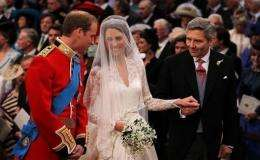 Prince William and Kate, now the Duke and Duchess of Cambridge, as they marry.