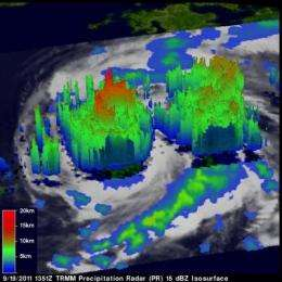 NASA sees heavy rainfall in Typhoon Roke