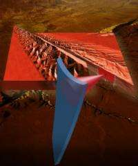 Researchers demonstrate earthquake friction effect at the nanoscale