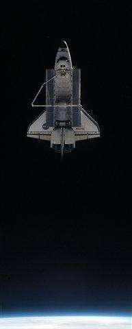 Space shuttle on verge of final landing (AP)