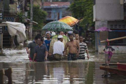 About 1.5 million hectares (3.7 million acres) of paddy fields in Thailand, Vietnam, Cambodia and Laos have been flooded