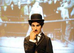 A Charlie Chaplin wax figure is seen at Madame Tussauds