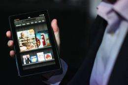 Amazon reported it had sold well over one million Kindle devices in the past three weeks