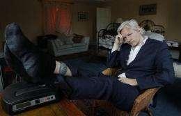 APNewsBreak: Assange says WikiLeaks work hampered (AP)