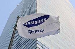 A Samsung flag flies in Seoul