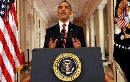 Barack Obama speaks in a rare prime-time address to the nation
