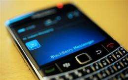 BlackBerry service hit for second day (AP)