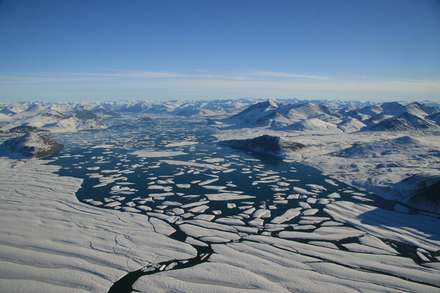 Canadian ice shelves halve in six years