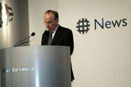 Chairman and CEO of News Corporation Rupert Murdoch speaks to shareholders in 2007