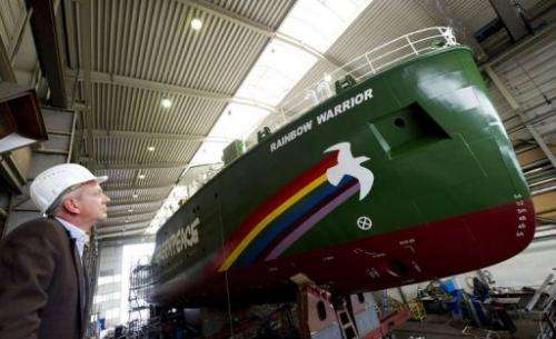 Chief designer Uwe Lampe says the Rainbow Warrior is