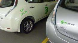 Communauto in mid-August launched the pilot project with 50 Nissan Leaf vehicles