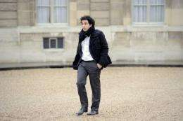 Daniel Marhely, founder and general director of Deezer.com, arrives at the presidential Elysee palace in Paris in 2010