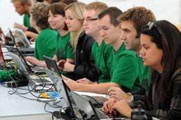 Facebook members work the internet to enrol university students to help with the clean-up operation in Christchurch
