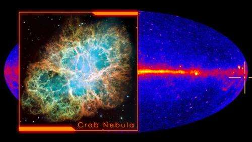 Fermi telescope spots 'superflares' in the Crab Nebula