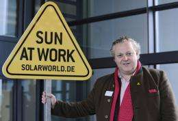 Frank Asbeck, chairman of Solarworld, at his company's HQ in Bonn