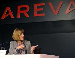 French nuclear group Areva chief executive Anne Lauvergeon