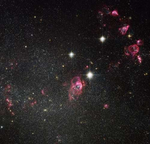 Galaxy caught blowing bubbles