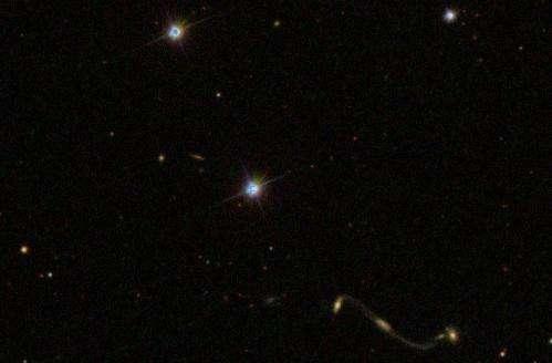 Galaxy Zoo reveals curious 'Violin clef' quadruple galaxy merger