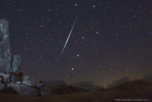 Geminid meteor shower 2011