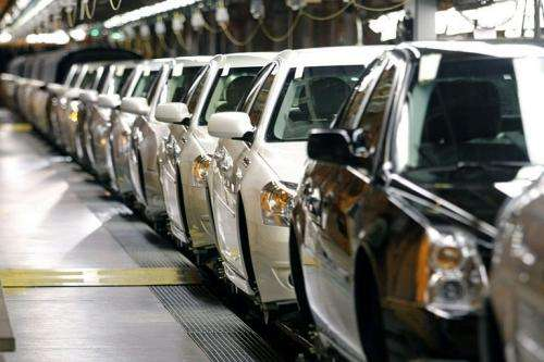 General Motors vehicles go through assembly in Detroit