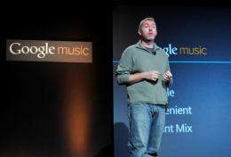 Google Product Manager Paul Joyce at the launch of Google Music