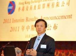 Hong Kong stock exchange chief executive Charles Li