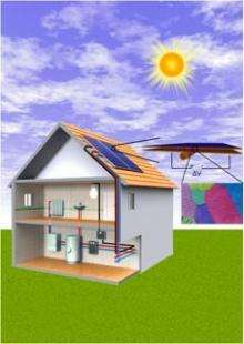 Solar-thermal flat-panels that generate electric power