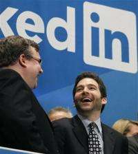 In reminder of '90s, LinkedIn has big first day (AP)