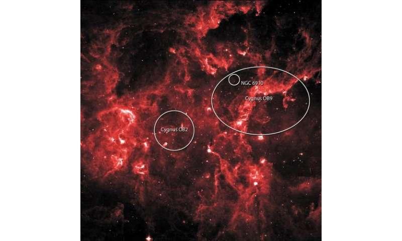 In the heart of Cygnus, NASA's Fermi reveals a cosmic-ray cocoon
