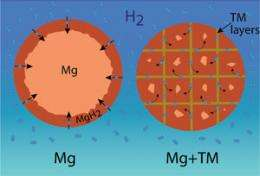 iron 'veins' are secret of promising new hydrogen storage material