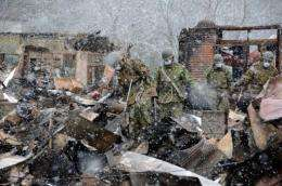 Japanese Self Defence Force soldiers search for tsunami victims