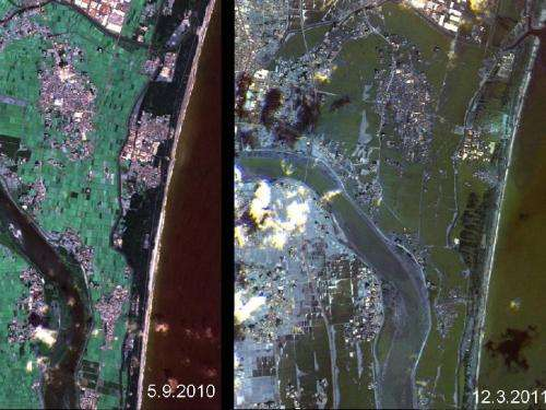 Japan's Coastline Before and After the Tsunami