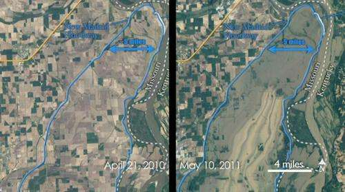 Landsat offers stunning comparison of flooding