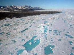 Large variations in Arctic sea ice