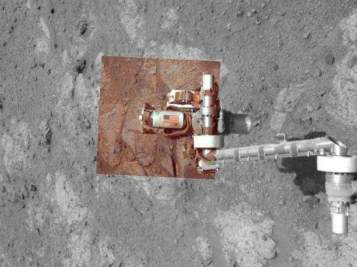 Memorial image taken on Mars on september 11, 2011