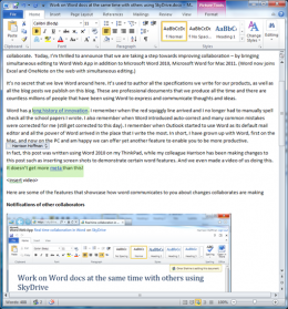 Microsoft adds a collaboration feature to the Word Web App