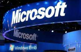 Microsoft shares were 1.92 percent lower at $24.53 in early afternoon trading
