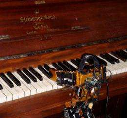 Music-playing robot developed by Drexel students