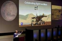 NASA officials remember Mars rover Spirit (AP)