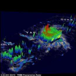 NASA sees Tropical Storm 04W's thunderstorms grow quickly
