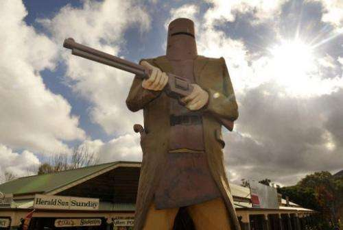 Ned Kelly was seen by many as a folk hero and symbol of Irish Australian resistance against British oppression