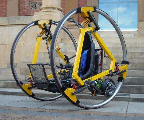 New electric diwheel hints at future of city transportation