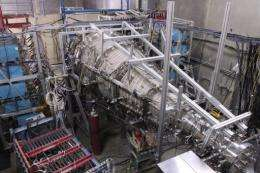 Part of an experimental reactor at the General Fusion laboratory in Burnaby, Canada