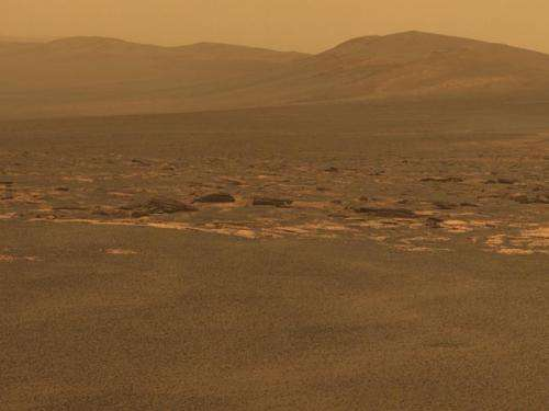 Rover arrives at new site on martian surface