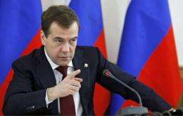 Russia's tech-savvy President Dmitry Medvedev condemned a massive Internet attack