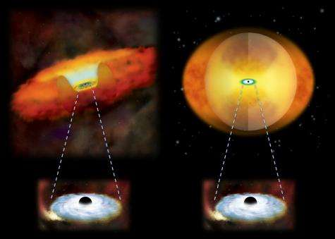 Science results - giant black holes revealed in the nuclei of merging galaxies