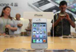 Several shops in Beijing were selling Apple's iPhone 4S, despite not being officially for sale in China